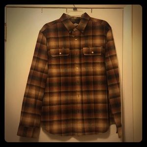 Brown plaid flannel shirt Salt Valley